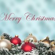 Christmas ornaments background — Stockfoto
