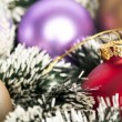 Christmas background concept - Christmas decoration ornaments — Stok fotoğraf