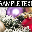 Christmas ornaments macro shot with space for your text — Stok fotoğraf
