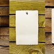 Set of empty notes on wooden background - Stock Photo