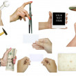 Collection of hand holding various objects - conceptual images i — Stock Photo #8527428