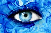 Abstract blue eye — Stock Photo