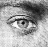 абстрактный образ человеческого глаза — Стоковое фото