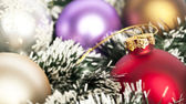 Christmas background concept - Christmas decoration ornaments — Stock Photo