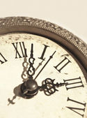 Vintage clock close-up — Stock Photo
