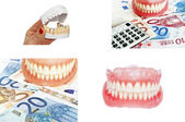 Collection of dentures and dental concept images — Stock Photo