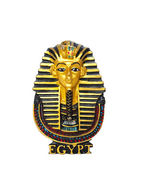 Egyptian golden pharaohs mask isolated on white - travel to Egypt concept — Стоковое фото