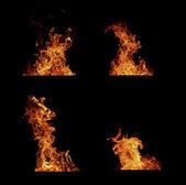 Collection de flammes de feu. — Photo