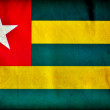 Togo grunge flag - Stockfoto