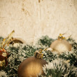 Grunge Christmass golden decoration background with space for yo — Stock Photo #8539030