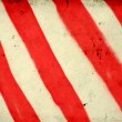Grunge background with red and white stripe pattern — Stock Photo