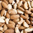 Mixed nuts texture — Stock Photo