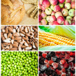 Stock Photo: Colorful healthy food collage