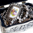 Stock Photo: Silver jewelry box