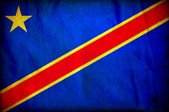 Congo Democratic Republic grunge flag — Stockfoto
