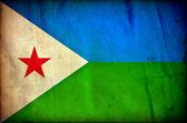 Djibouti grunge flag — Stock Photo