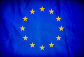 European Union grunge flag — Foto Stock
