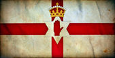 Nordirland grunge flagga — Stockfoto