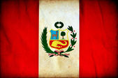 Peru grunge flag — Stock Photo