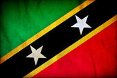 Saint Kitts and Nevis grunge flag — Foto Stock