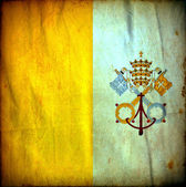 Vatican grunge flag — Stock Photo