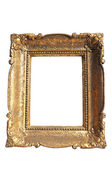 Gouden frame geïsoleerd — Stockfoto