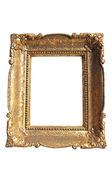 Moldura de ouro isolada — Foto Stock