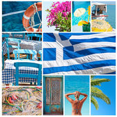 Greece collage — Stock Photo