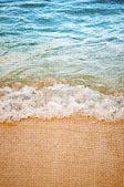 Retro image of sandy beach — Stock Photo