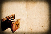 Antique camera on vintage paper background — Foto de Stock