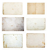 Collection of grunge empty papers and postcards — Stock Photo
