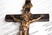 Cross and bible — Stock Photo
