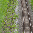 Old and new railway tracks - Stock Photo