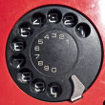 Red telephone background — Stock Photo