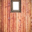 Stock Photo: Wooden background with empty frame