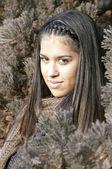 Attractive young brunette portrait — Stock Photo