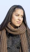 Portrét krásné bruneta ženy — Stock fotografie