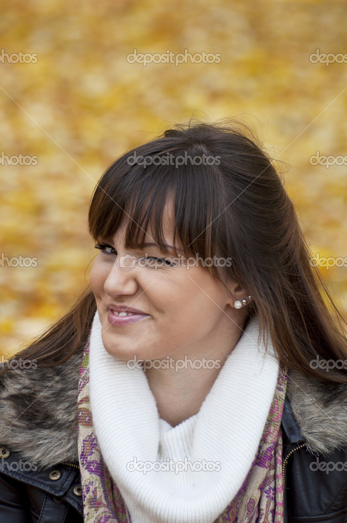 Portrait of beautiful woman twinkling and blinking — Stock Photo #8566841