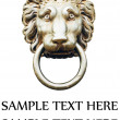 Lion&#039;s head door knocker isolated on white - Stock Photo