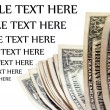 Stock Photo: Money isolated on white with text space