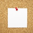 Empty memo note on cork board — Stock Photo
