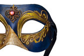 Mask from Venice isolated on white — Stock Photo