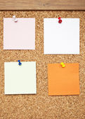 Mantar pano boş Not notları — Stok fotoğraf