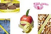 Collection of healthy life conceptual images — Stock Photo