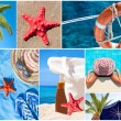 Collage of beautiful summer photos -  Summer vacation concept — ストック写真