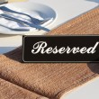 Stock Photo: Restaurant reservation concept