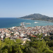 View at town of Zante from Zante point view - Stock Photo