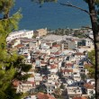 View of the Zante town from Mpochali hill - Stock Photo