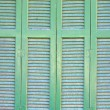 Traditional Greek window background — Stock Photo
