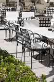 Restaurace stoly a židle — Stock fotografie